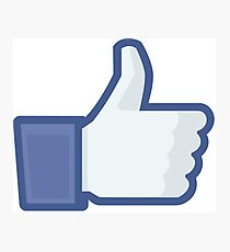 Facebook like button  Photographic Print