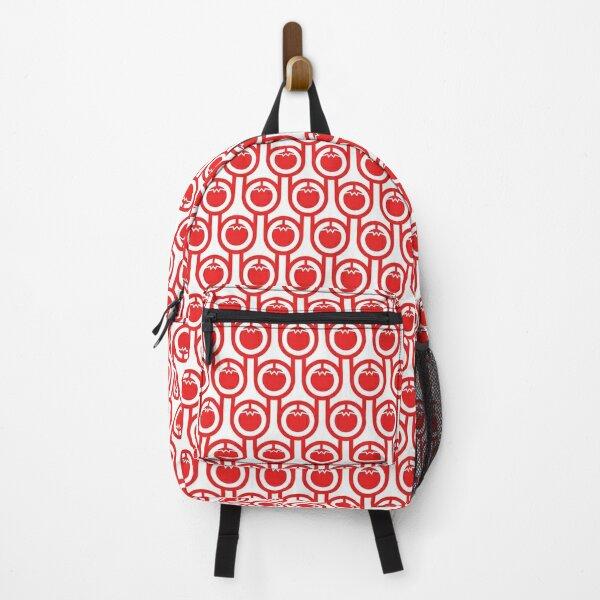 Scandi Midcentury Modern Retro Geometric Tomatoes Pattern Backpack