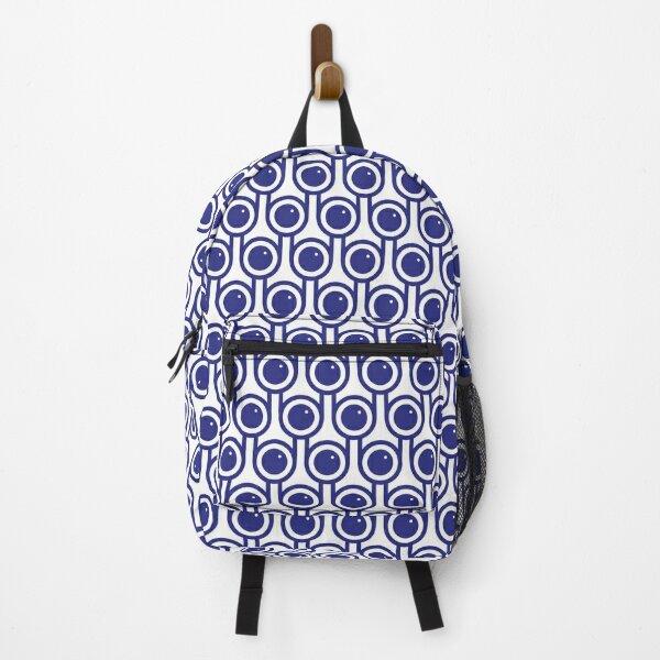 Scandi Midcentury Modern Retro Geometric Blueberries Pattern Backpack
