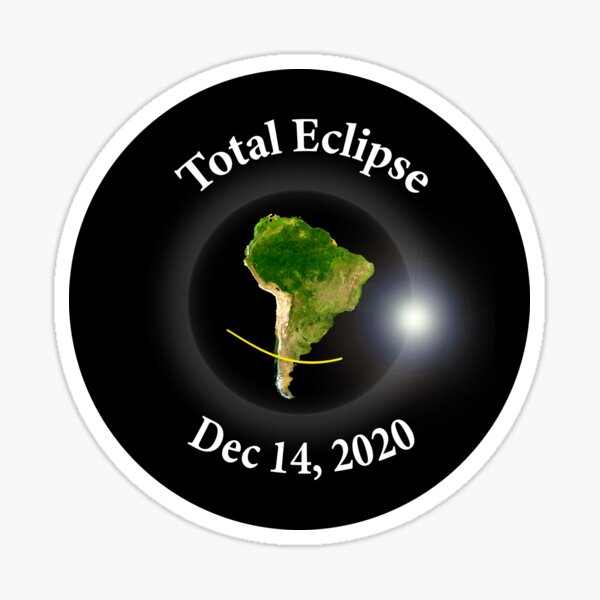 Total Solar Eclipse - Dec 14th 2020 Sticker