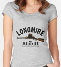 Longmire for Sheriff Women's Fitted Scoop T-Shirt
