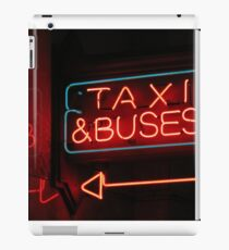 taxis & buses iPad Case/Skin