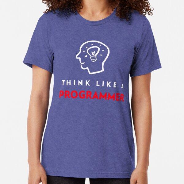 Think a Like Programmer Tee Tri-blend T-Shirt