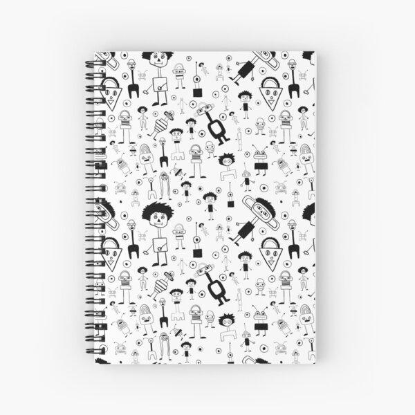 Playtime 2 B&W Spiral Notebook