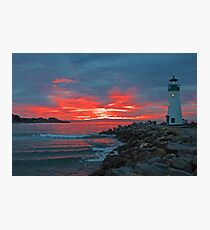 Firey Lighthouse Photographic Print