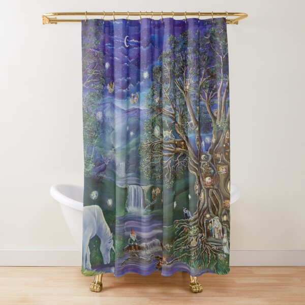 'The Fairy Tree' by Sonia Finch Shower Curtain
