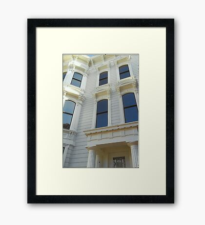 American Victorian Splendor,(San Francisco,U.S.A) Framed Print