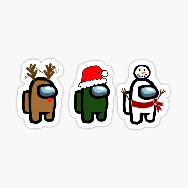 Among Us Christmas Stickers Redbubble