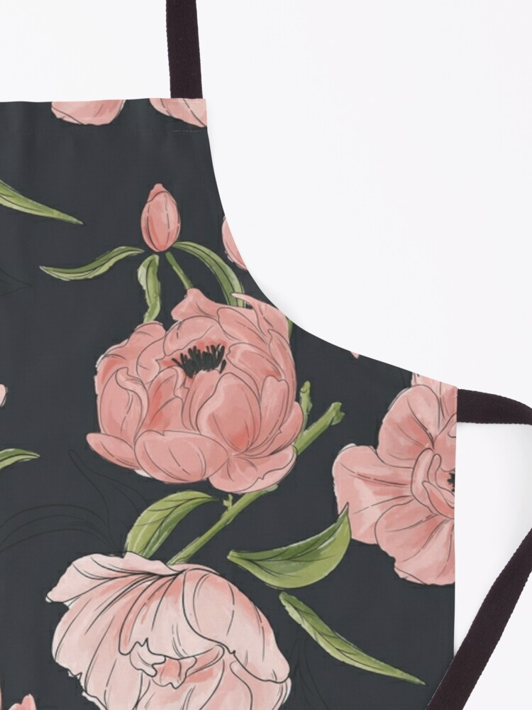Alternate view of Modern floral peony pattern Apron