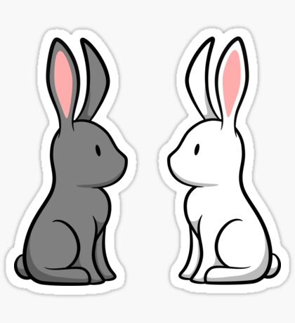Snow Bunnies Sticker