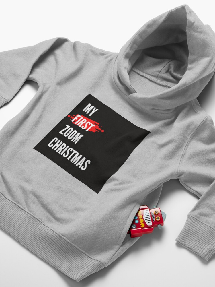 Alternate view of My First Zoom Christmas Toddler Pullover Hoodie