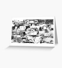 Smokey and the Bandit Collage Greeting Card