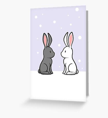 Snow Bunnies Greeting Card