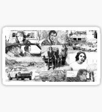 Two Lane Blacktop Collage Sticker