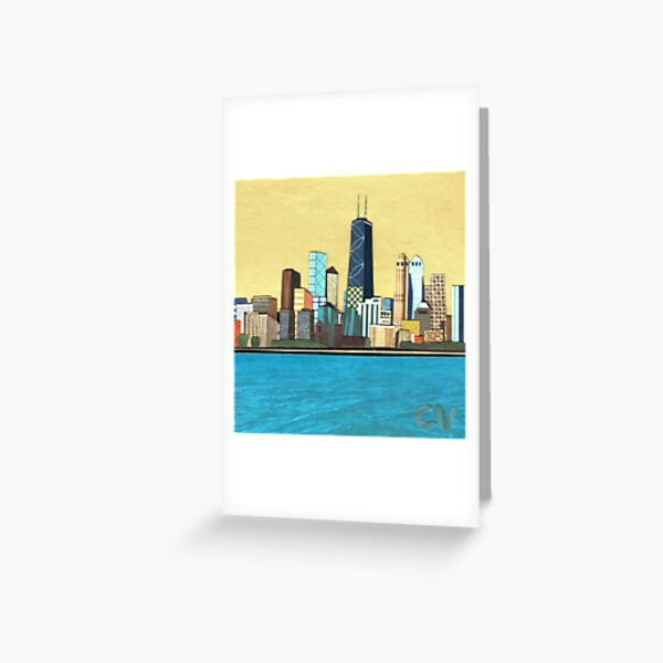 Golden Chicago Greeting Card