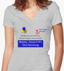 Gippsland Amateur Gynaecologists 72nd Anniversary Women's Fitted V-Neck T-Shirt