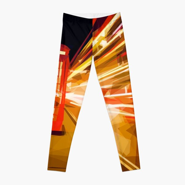 London Phone Box Leggings