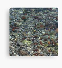 River Water and Rock Reflections Canvas Print