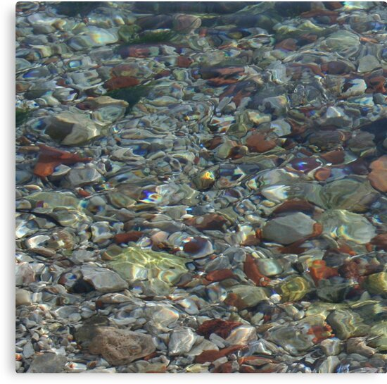 River Water and Rock Reflections by taiche