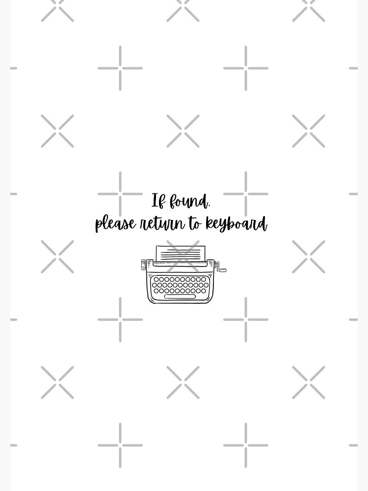 If found, please return to keyboard by authorlwinter