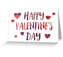 happy valentine's day bokeh Greeting Card