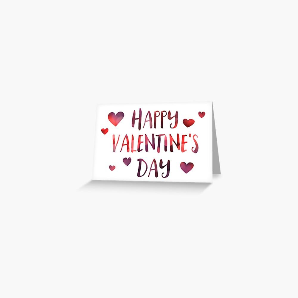 Happy Valentinstag Bokeh Grußkarte