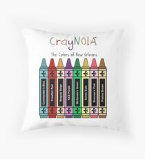 CrayNOLA™ - The Colors Of New Orleans Throw Pillow
