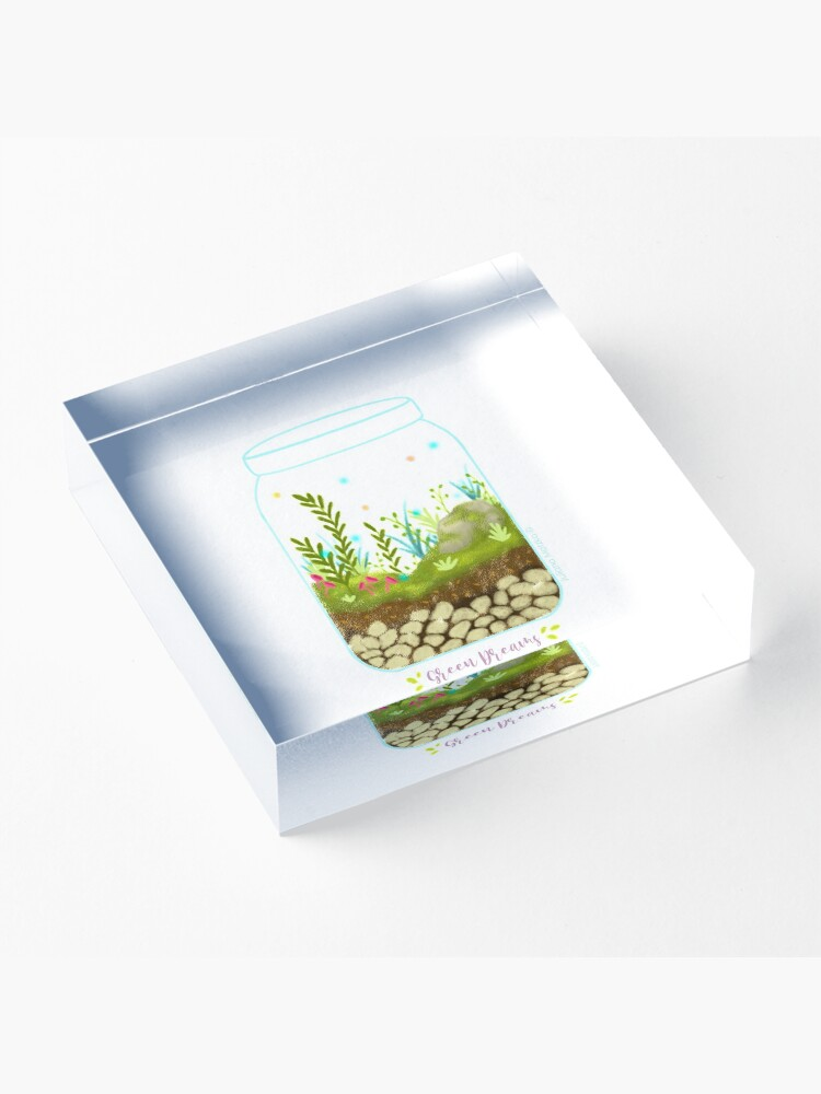 Alternate view of Green Dreams - Version 1 Acrylic Block