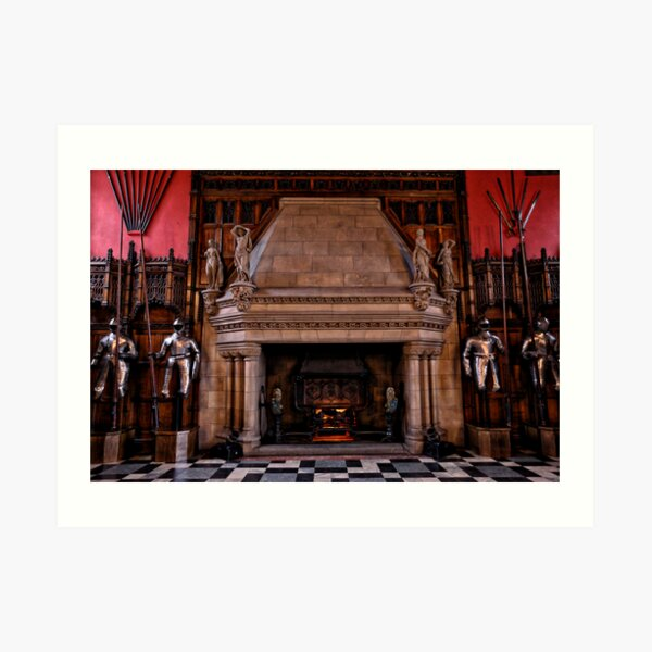 The Guarded Fireplace of Days Gone By Art Print