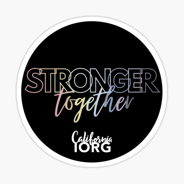 Stronger Together Pastel Gradient Circle Sticker