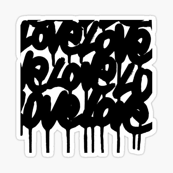 BLACK LOVE Sticker