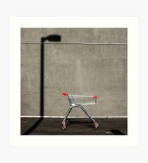 Lonely shopping trolley Art Print