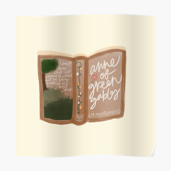 Anne of Green Gables Book Poster