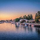 Port Fairy Sunset  (OJ) by Raymond Warren