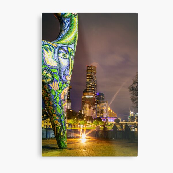 Angel watching over Melbourne City  Metal Print