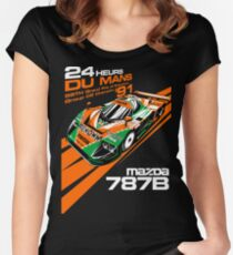 DU Mans Mazda 787B Women's Fitted Scoop T-Shirt