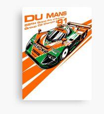 DU Mans Mazda 787B Canvas Print