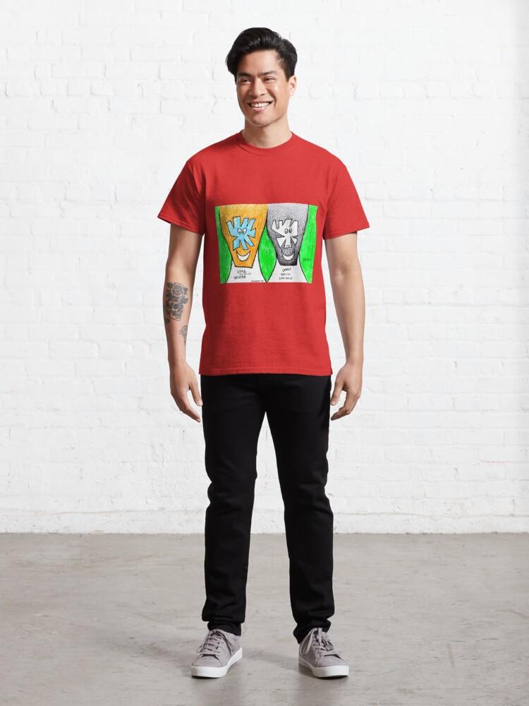 Alternate view of Smiling Couple (original artwork) Classic T-Shirt