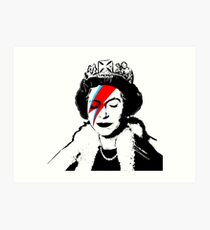 Ziggy Stardust Queen (David Bowie) Art Print