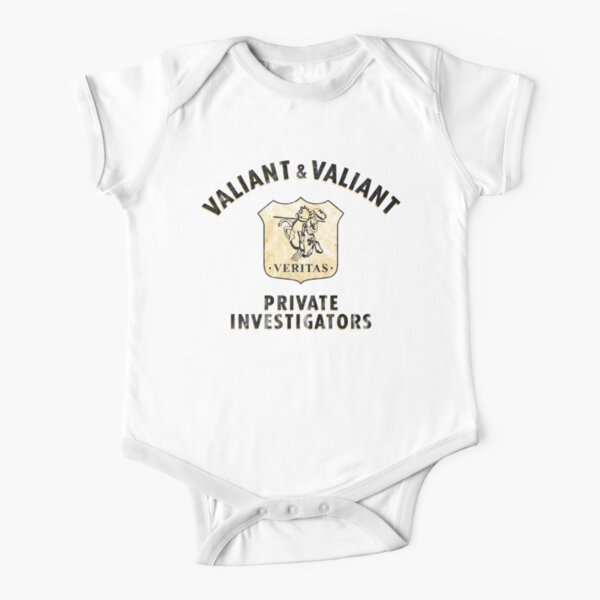 Valiant and Valiant Logo inspired by Who Framed Roger Rabbit Short Sleeve Baby One-Piece