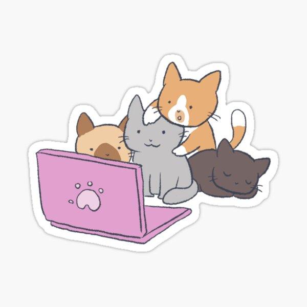 Ensemble Programming Kittens (no text) Sticker