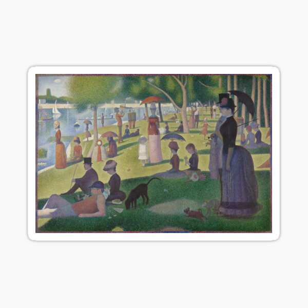 Sunday in the Park Sticker