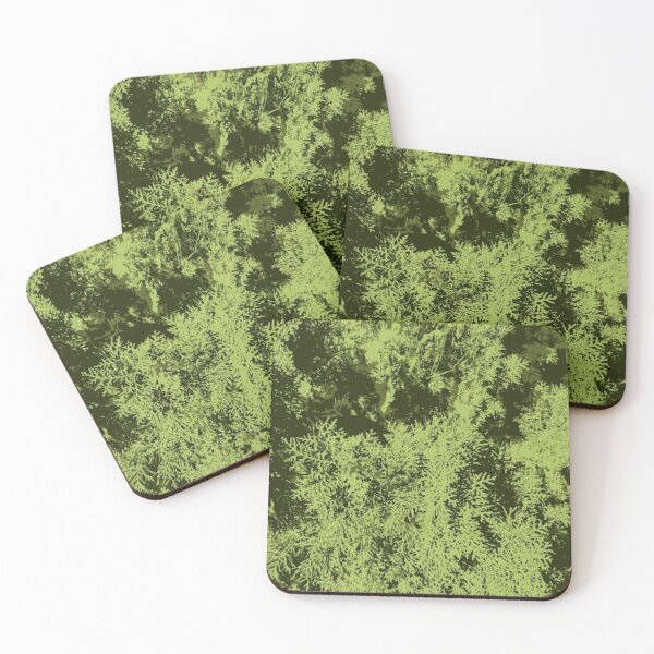 Yew Pattern Design Coasters (Set of 4)