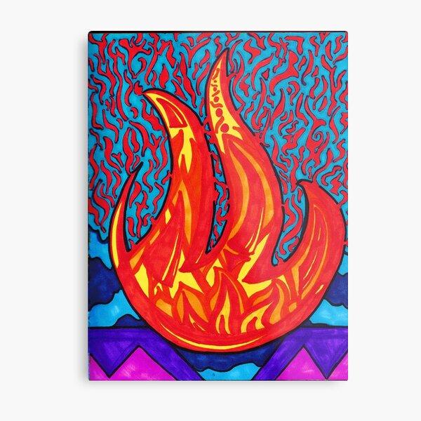 Fire Pit Sharpie Art Metal Print
