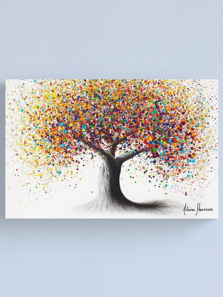 Alternate view of Rainbow Soul Tree  Canvas Print