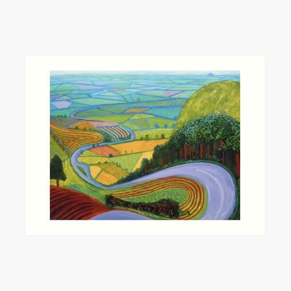 David Hockney - 'Garrowby Hill' (1998). Iconic painting by the legendary English artist.  Art Print