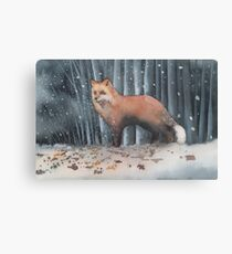 Red Fox in a Snowstorm Canvas Print