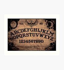 Klassisches Ouija-Brett Kunstdruck