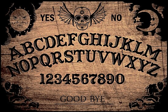 Quot Classic Ouija Board Quot Poster By Pgdn Redbubble