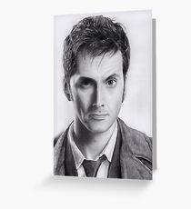 David Tennant Doctor Who No.10 Greeting Card
